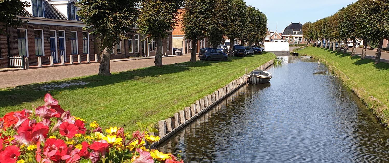 Kanal in Stavoren Friesland