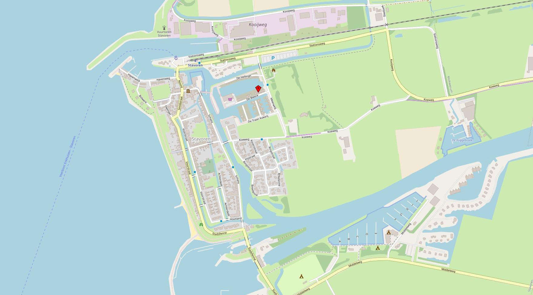 Karte Stavoren (Open Street Map)
